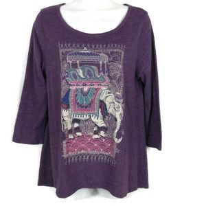 Lucky Brand Elephant Graphic shirt. Size M